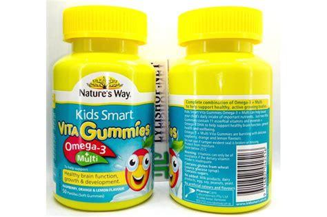 Natures Way Smart Vita Gummies Omega 3 Multi 1 kẹo dẻo cho b 233 nature s way smart vita gummies omega3