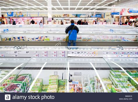 frozen food section frozen food section in german supermarket stock photo
