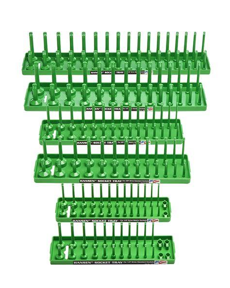 socket holder tray set socket trays from hansen global organize your sockets tools with our trays rackshansen
