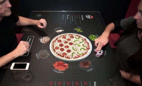 new pizza hut tables will allow you to design your pizza