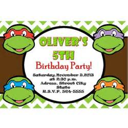 teenage mutant ninja turtles invitation tmnt invite