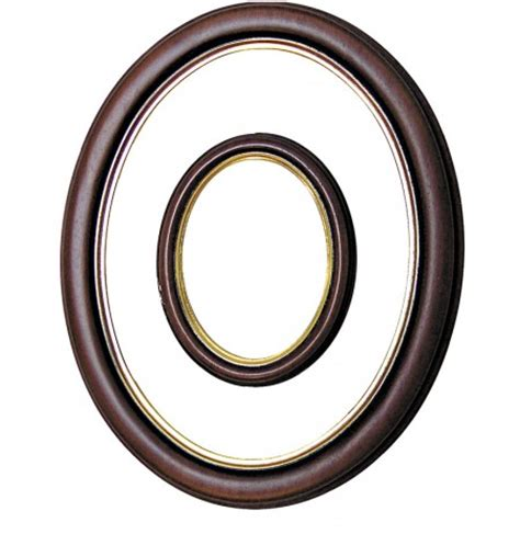cornici ovali cornice ovale in legno oro 24x30 cm