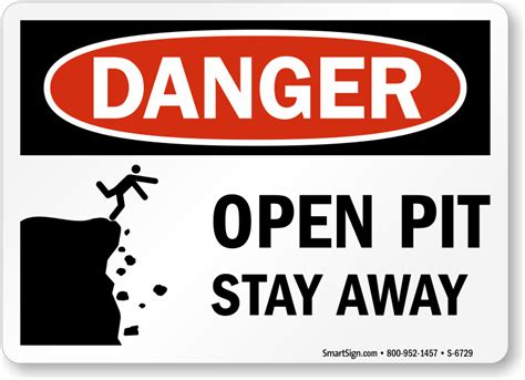open trench and pit signs from mysafetysign