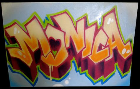 Beautiful Graffiti On Canvas #1: Monica-black.jpg