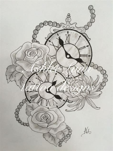 best 25 clock and rose tattoo ideas on pinterest watch