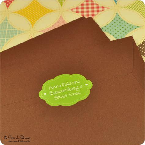 Adressaufkleber Briefkasten by Einzigartige Personalisierte Aufkleber Casa Di Falcone