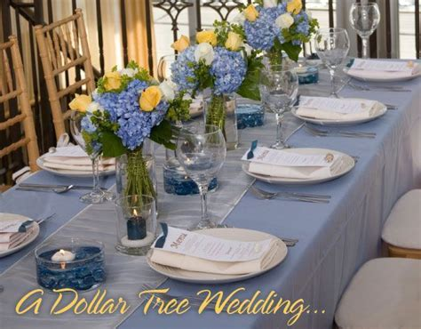 DIY Wedding Ideas from Dollar Tree: Cool Blue, Lemon