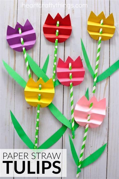 Pretty Paper Crafts - pretty paper straw tulip craft flower crafts