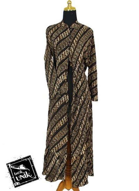 Baju Muslim Gamis Batik Soft baju batik gamis jubah motif batik parang sogan soft
