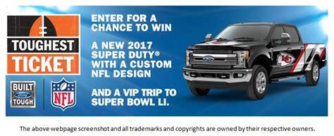 Free Truck Giveaway 2017 - tryfreebies com win a 2017 ford super duty truck