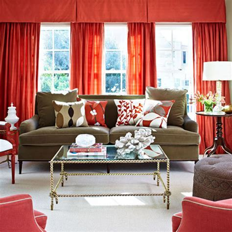 Orange Valances For Windows Decorating House With Vibrant Color And Light Traditional Home