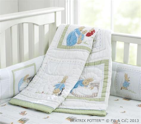 Rabbit Crib Bedding Set by Rabbit Baby Bedding Set Pottery Barn
