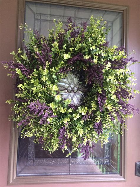 Floral Door Decorations by Wreath Eucalyptus Wreath Boxwood Wreath Greenery