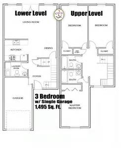 3 bedroom garage apartment floor plans town house floor plans find house plans