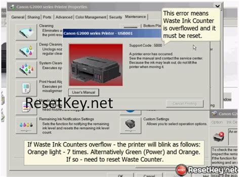 resetter printer g2000 reset canon g2000 code 5b00 waste ink counter error wic