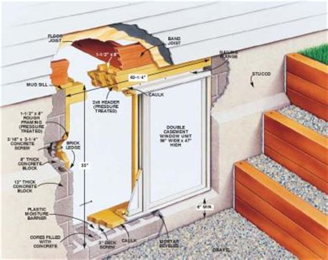 how to install a basement window in a block wall basement window installation