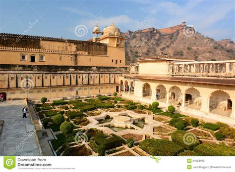 Courtyard Plans by The Garden Amer Palace Or Amer Fort Jaipur Rajasthan