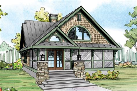 Craftsman Cottage Floor Plans craftsman house plans glen eden 50 017 associated designs