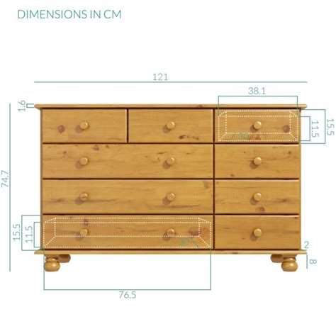 hamilton 2 3 4 wide chest of drawers in pine buy it direct