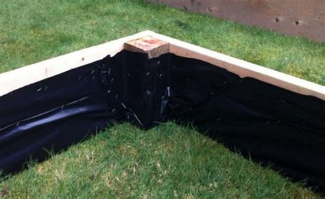 staple plastic sheeting     raised beds