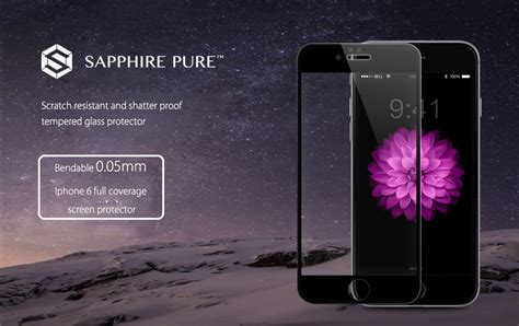 Hippo Sapphire Iphone 6s 3d White Tempered Glass Original buy 0 05mm ultimate thin sapphire tempered glass screen protector iphone samsung
