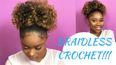 crochet hairstyles in ponytails here s how to create a puff ponytail using the braidless