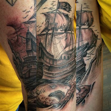 pirate ship tattoo