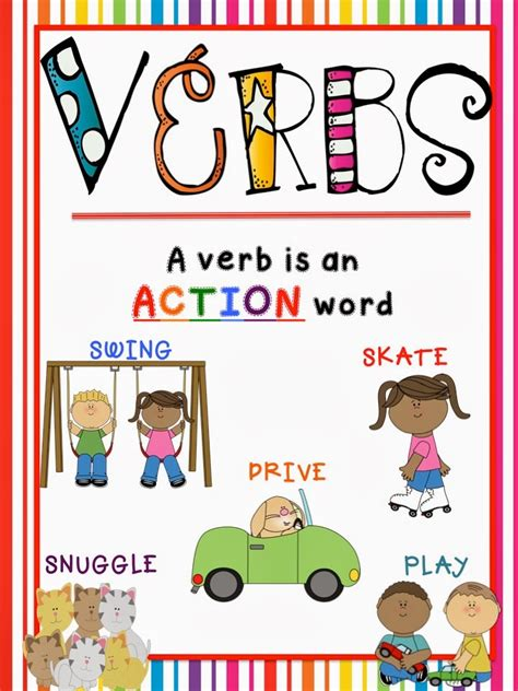 Printable Verb Poster | verb poster printable www imgkid com the image kid has it