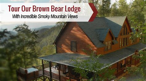 cabin city tour bryson city cabin rentals brown lodge is