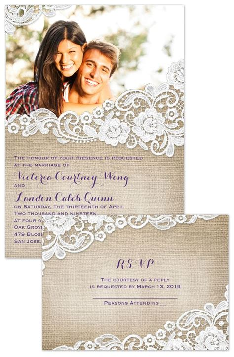 Wedding Invitation With Photo by 25 Best Ideas About Lace Wedding Invitations On