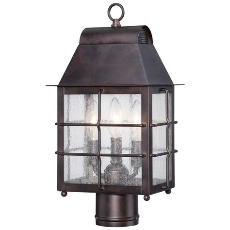 3 light l post the great outdoors by minka lavery willow pointe 3 light
