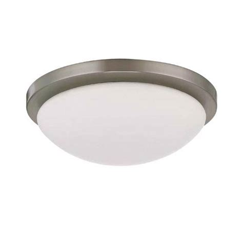 nuvo lighting button small brushed nickel energy