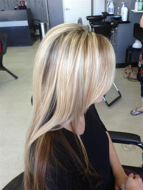 highlights under crown hair 2015 hair by caressa hair nail station riverbank ca yelp