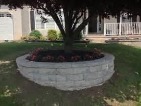 retaining wall custom flower bed in newark delaware