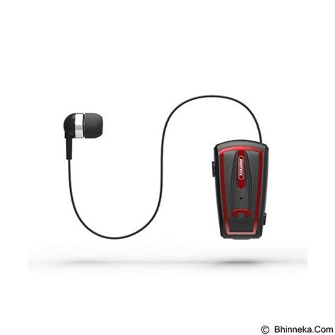 jual remax wireless bluetooth earphone clip on retractable