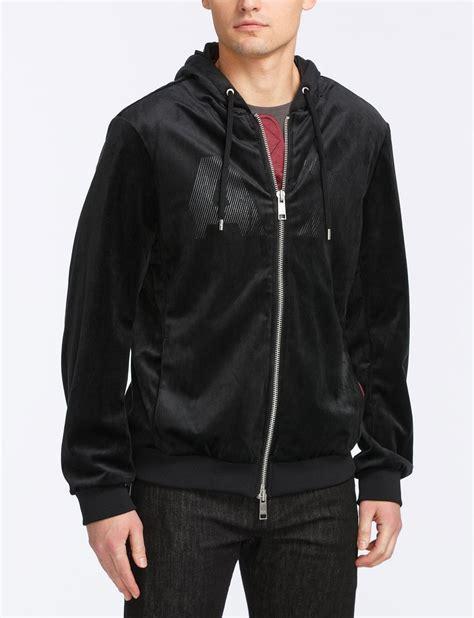 Sweater Pria Fleece Jaket Zipper Hoodie Distro Infcl Eklusif armani exchange velvet zip logo hoodie fleece jacket for a x store