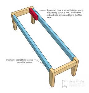 Instructions on how to make a simple bench myideasbedroom com