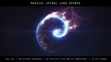 logo opener tutorial after effects spiral magical logo opener fire after effects templates