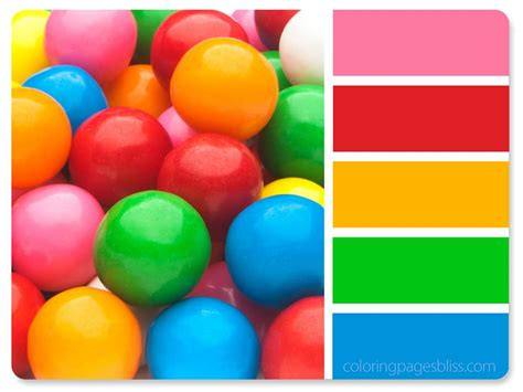 gum color nature inspired color palettes
