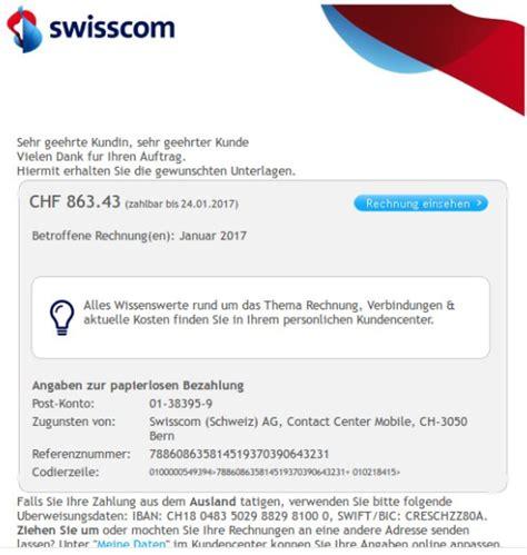 Rechnung Bezahlen Schweiz Schweiz Achtung Gef 228 Lschte Swisscom Rechnungen Im Umlauf Polizei Schweiz Ch