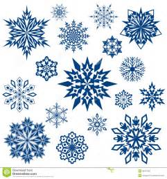 Flower Jigsaw Puzzle - snowflake shapes collection royalty free stock photo