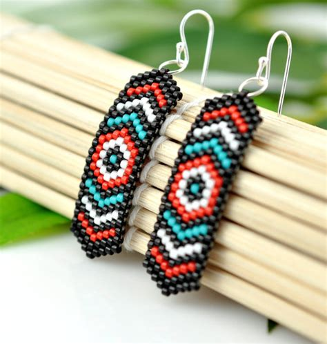 step by step how to make american beaded earrings salish american inspired beaded earrings pacific