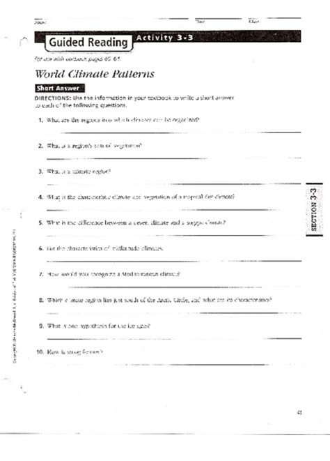 Weather Patterns Worksheet Answers | worksheet climate zones worksheet hunterhq free