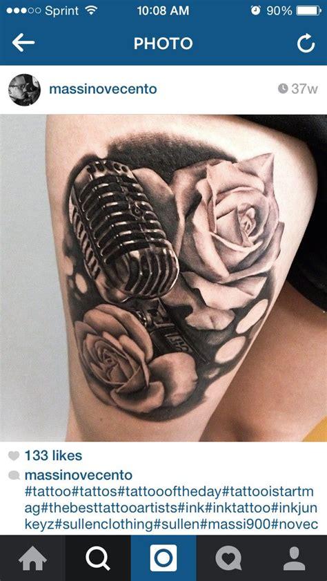 microphone stand tattoo the 25 best ideas about microphone tattoo on pinterest