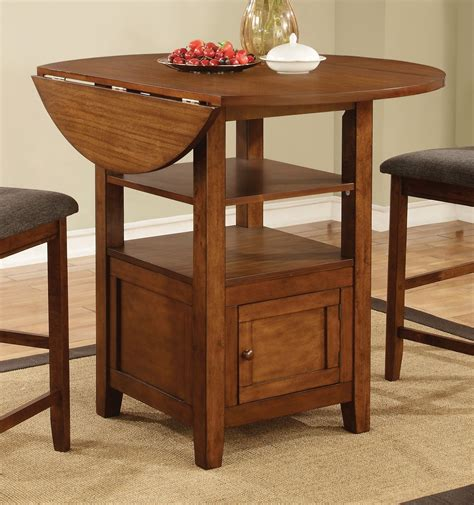 Drop Leaf Counter Height Table Stockton Warm Brown Drop Leaf Counter Height Dining Table From Coaster 105408 Coleman