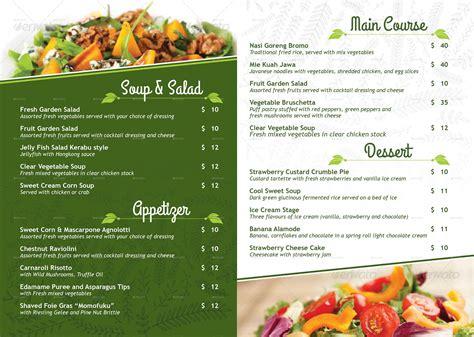 vegetarian restaurant menu poster by royan graphicriver