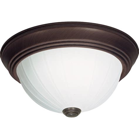 Replacing Flush Mount Ceiling Light Fixture by Nuvo Lighting 60451 3 Light Twist And Lock Base 15 Quot Flush Mount Bronze Finish With