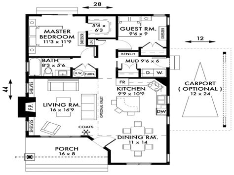 cottage home floor plans 2 bedroom cottage house plans 2 bedroom cottage house