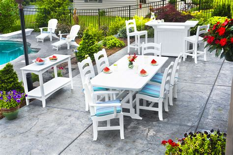 patio furniture white white wood patio furniture chicpeastudio