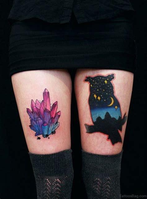 crystal tattoo 50 wonderful owl tattoos on thigh